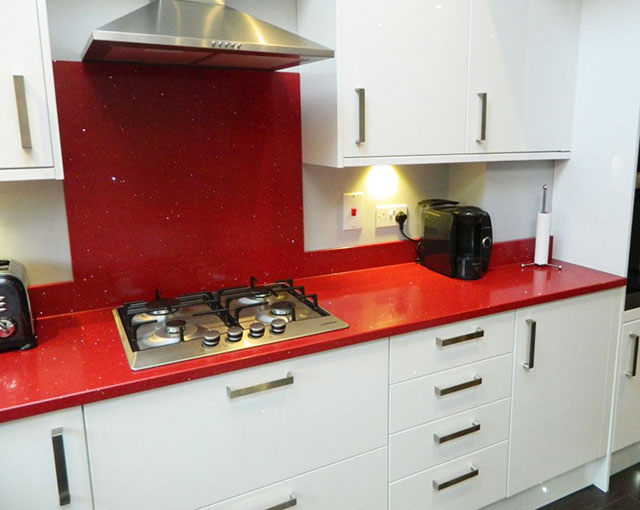ARTIFICIAL GRANITE WORKTOP RED