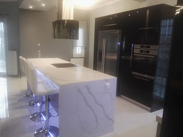 ARTIFICIAL GRANITE WORKTOP CALACATTA