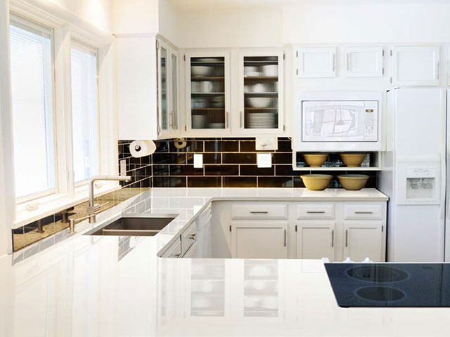 ARTIFICIAL GRANITE WORKTOP SNOW WHITE